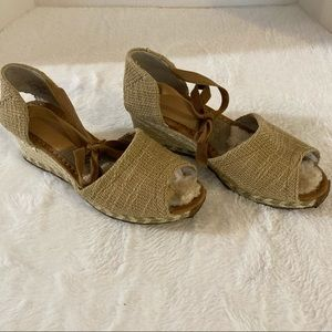 Ugg shoes size 8 heels sandals women's tan